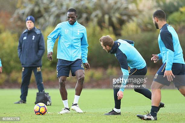 Moussa Sissoko of Tottenham during the Tottenham Hotspur training session at Tottenham Hotspur Training Centre on November 17 2016 in Enfield England
