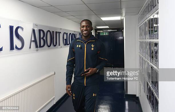 Moussa Sissoko of Tottenham Hotspur arrives prior to the Emirates FA Cup Fourth Round match between Tottenham Hotspur and Wycombe Wanderers at White...