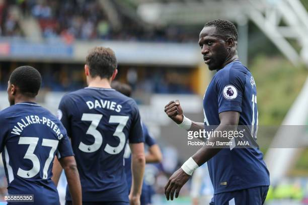 Moussa Sissoko of Tottenham Hotspur celebrates after scoring a goal to make it 04 during the Premier League match between Huddersfield Town and...