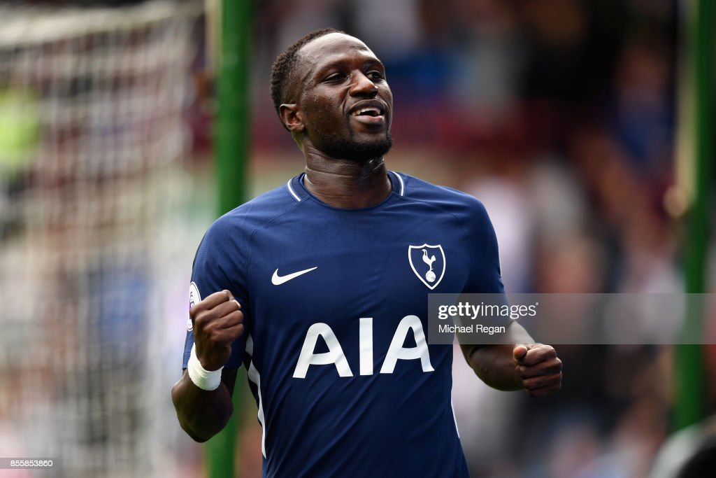 Moussa Sissoko of Tottenham Hotspur celebrates scoring his sides fourth goal during the Premier League match between Huddersfield Town and Tottenham Hotspur at John Smith's Stadium on September 30, 2017 in Huddersfield, England.