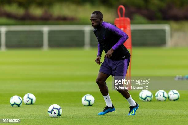 Moussa Sissoko of Tottenham Hotspur during pre season training at Tottenham Hotspur Training Centre on July 10 2018 in Enfield England