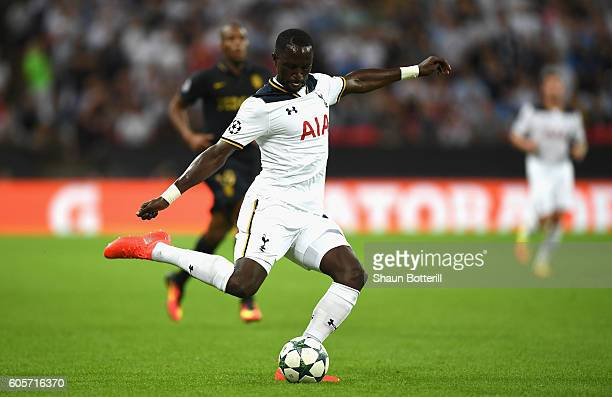 Moussa Sissoko of Tottenham Hotspur in action during the UEFA Champions League match between Tottenham Hotspur FC and AS Monaco FC at Wembley Stadium...