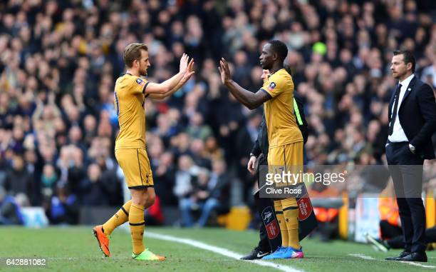 Moussa Sissoko of Tottenham Hotspur replaces Harry Kane of Tottenham Hotspur as a substitute during The Emirates FA Cup Fifth Round match between...