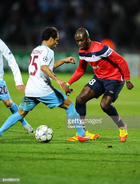 Moussa SOW / ALANZINHO Lille / Trabzonspor Champions League 2011/2012 Photo Dave Winter / Icon Sport