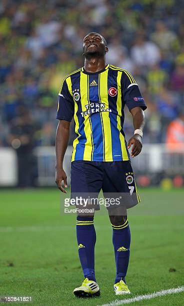 Moussa Sow of Fenerbahce SK in action during the UEFA Europa League group stage match between Fenerbahce SK and Olympique de Marseille on September...