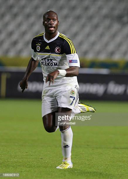 Moussa Sow of Fenerbahce SK in action during the UEFA Europa League group stage match between AEL Limassol FC and Fenerbahce SK held on October 25...