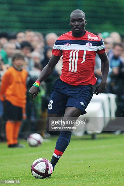 Moussa Sow of Lille in action during the preseason friendly match between Lille and Saint Etienne on July 23 2011 in Chambon sur Lignon France