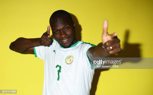 Moussa Sow of Senegal poses for a portrait during the official FIFA World Cup 2018 portrait session at the team hotel on June 13 2018 in Kaluga Russia