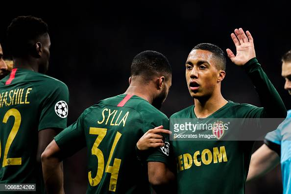 Moussa Sylla Of AS Monaco, Youri Tielemans Of AS Monaco