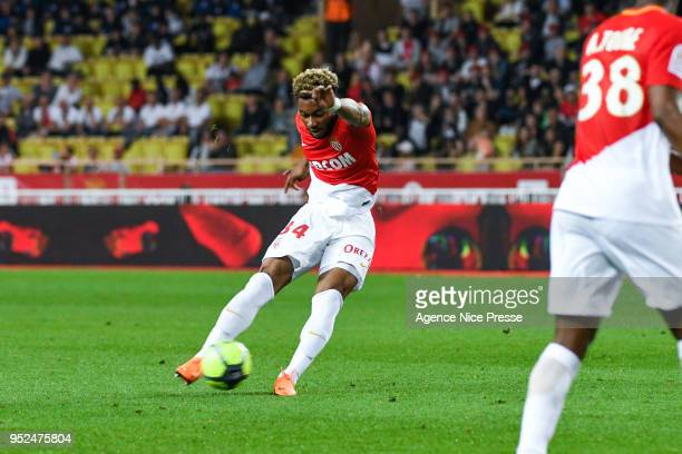 Moussa Sylla of Monaco during the Ligue 1 match between AS Monaco and Amiens SC at Stade Louis II on April 28 2018 in Monaco