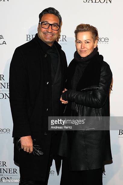 Mousse T and _______ attend the group presentation during the Der Berliner Mode Salon A/W 2017 at Kronprinzenpalais on January 18 2017 in Berlin...
