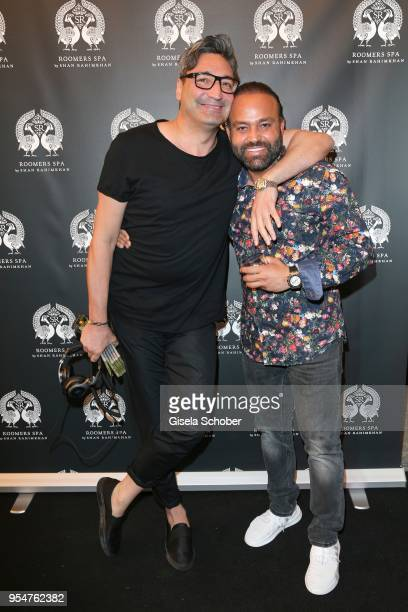 Mousse T and Bardia Torabi, General Manager Roomers Munich during the Grand Opening of Roomers Spa by Shan Rahimkhan on May 4, 2018 in Munich,...