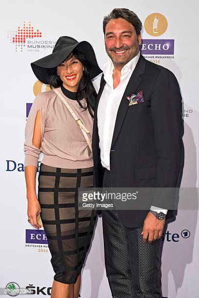 Mousse T and guest attend the Echo Award 2016 on April 7 2016 in Berlin Germany