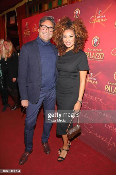 Mousse T and Khadra Sufi during the Cornelia Poletto Palazzo Gala Premiere on November 10 2018 in Hamburg Germany