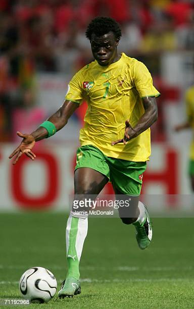 Moustapha Salifou of Togo in action during the FIFA World Cup Germany 2006 Group G match between South Korea and Togo at the Stadium Frankfurt on...
