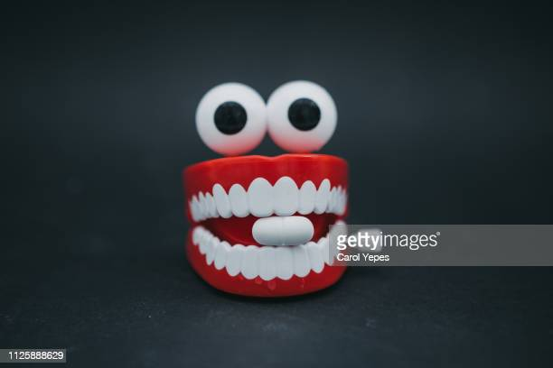mouth and medical  pill - naughty valentine stockfoto's en -beelden