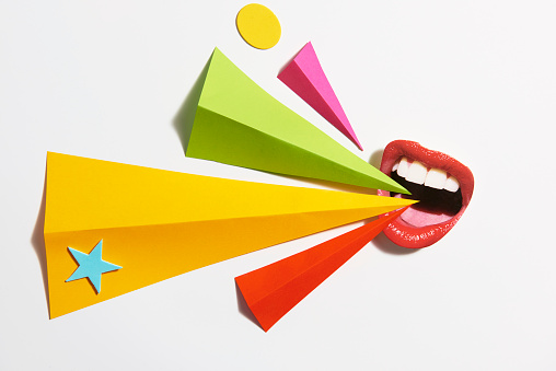 mouth shouting with copy space - gettyimageskorea