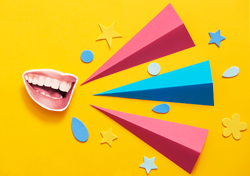 mouth talking with copy space - gettyimageskorea