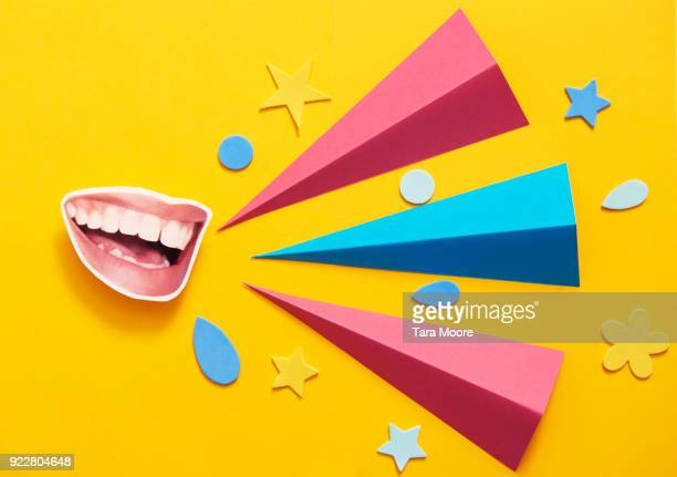 mouth talking with copy space - multi colored stock pictures, royalty-free photos & images