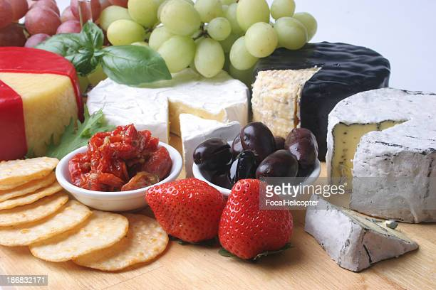 mouth watering cheese platter