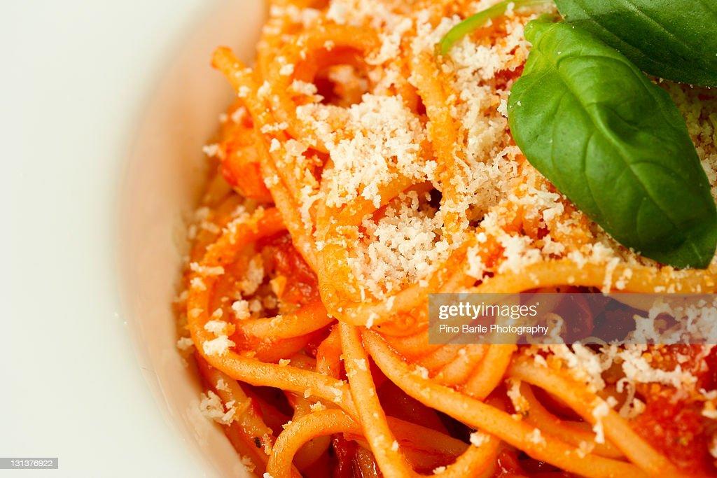 Mouth watering spaghetti dish : Stock Photo