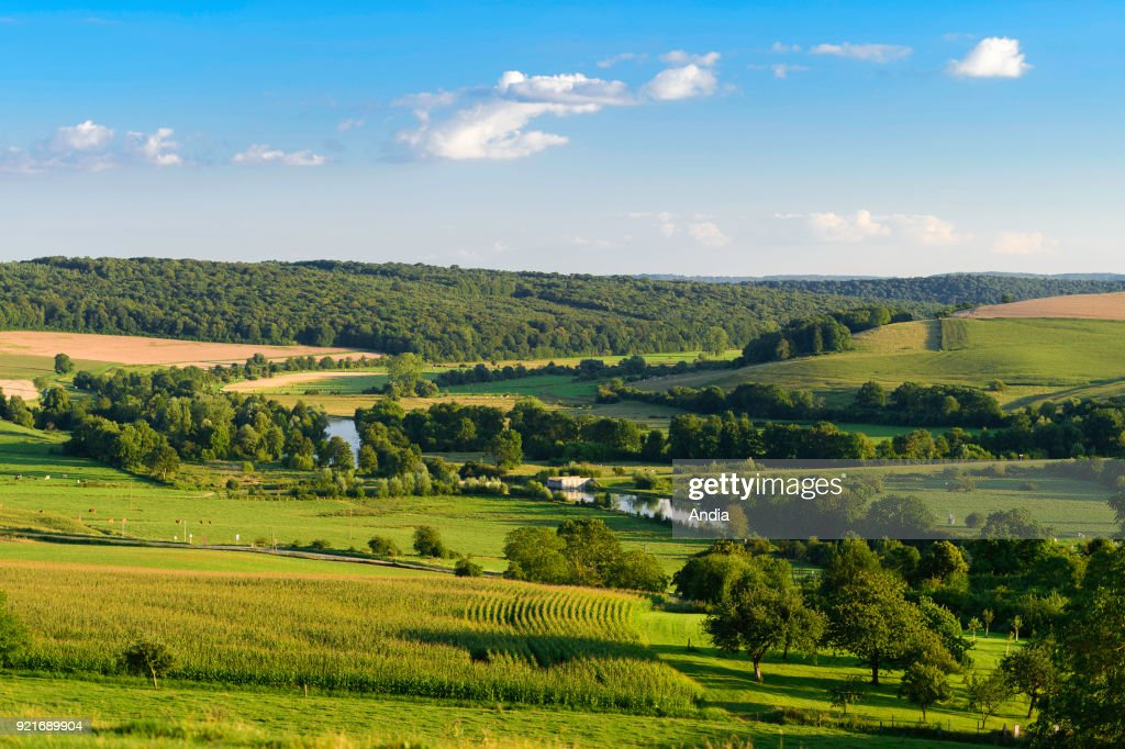 Landscape of the Meuse Valley. : News Photo