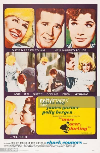 Move Over, poster, DARLING, US poster art, top, from left: Doris Day, James Garner, Polly Bergen, 1963.