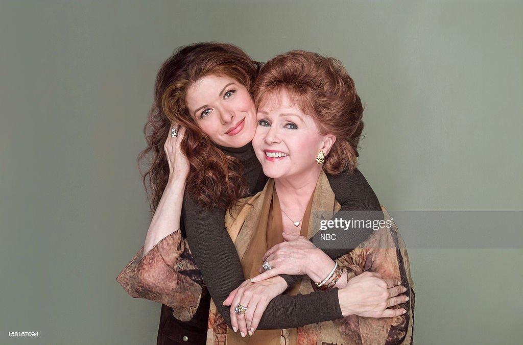 WILL & GRACE -- 'Moveable Feast' Episode 9 -- Pictured: (l-r) Debra Messing as Grace Adler, Debbie Reynolds as Bobbi Adler --