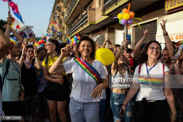 LGBT movement activists during the Avellino Pride 2019 on June 15 2019 in Atripalda Italy Abellinum Pride 2019 People Have The Power is the march in...