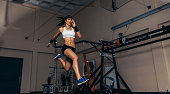 Movement and performance monitoring of runner in biomechanical lab