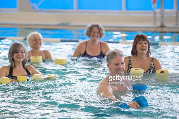 Movement in a Water Aerobics Class