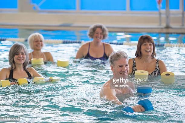 Movimento in una classe di aerobica in