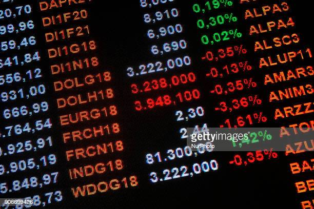 Movement on the Bovespa in Sao Paulo Brazil on 18 January 2018 where the auction of the lines 5 and 7 of the Metro was scheduled for tomorrow The...