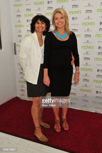 Moves Magazine publisher Mamoonah Ellison and Fox's Heather Nauert attends Moves Summer 2010 at Studio 450 on July 6 2010 in New York City