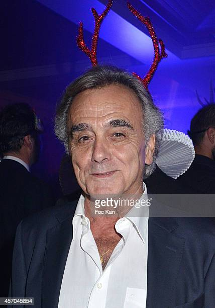 X movie actor Alban Ceray attends the Marc Dorcel 35th Anniversary Masked Ball at the Chalet des Iles on October 10 2014 in Paris France