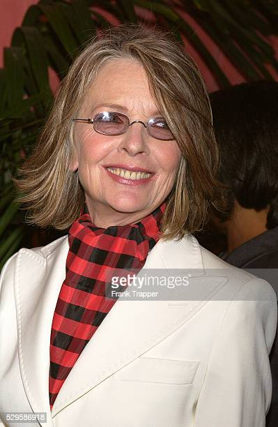 Movie actress and director Diane Keaton arrives at the 76th Annual Oscar Nominees Luncheon