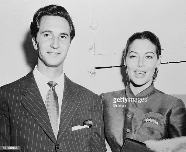 Movie Actress Ava Gardner appears with bullfighter Luis Miguel Dominguin at the Copagarage Night Club in New York The two have romantically linked in...