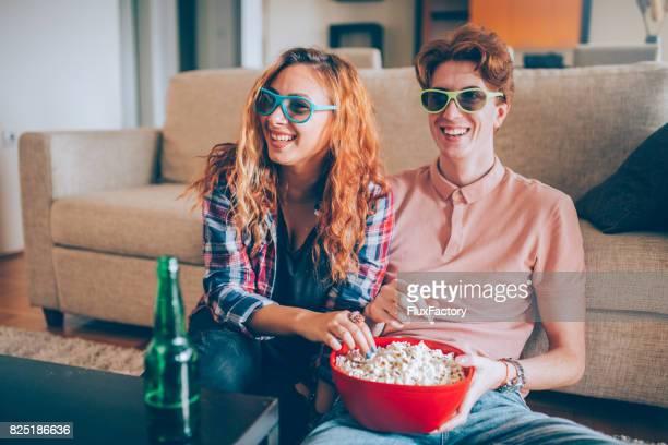 3D Film und Popcorn Zeit