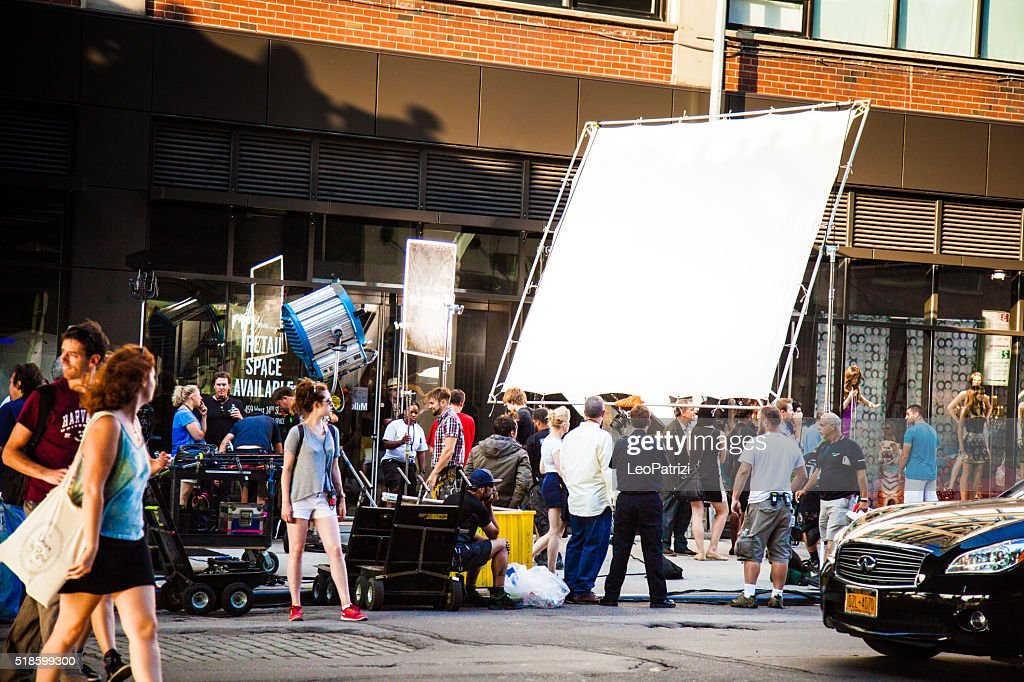 Movie and TV series set in New York streets : Stock Photo