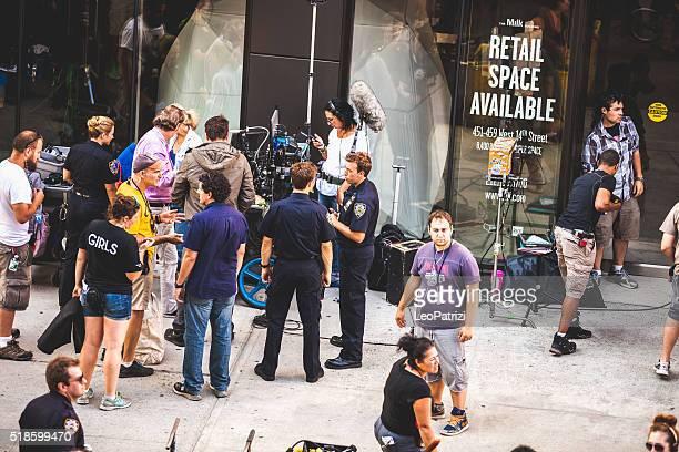 Film- und TV-Serie in Neu York Straßen