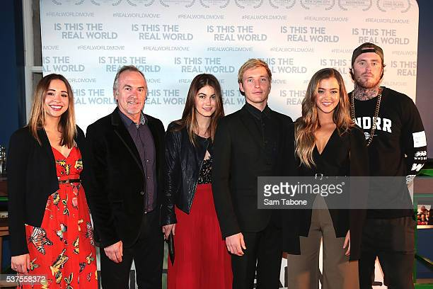 Movie cast Sophie WrightGreg StoneCharlotte BestSean KeenanJiordan Tolli and Matt Colwell360 arrive ahead the premiere of Is This The Real World at...