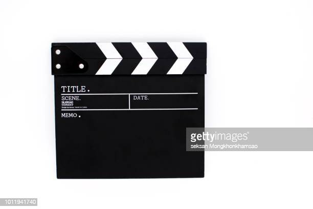 movie clapper board,movie production, - clapboard stock pictures, royalty-free photos & images