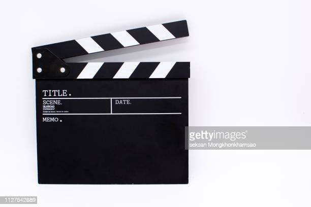 movie clapper board,movie production - clapboard stock pictures, royalty-free photos & images