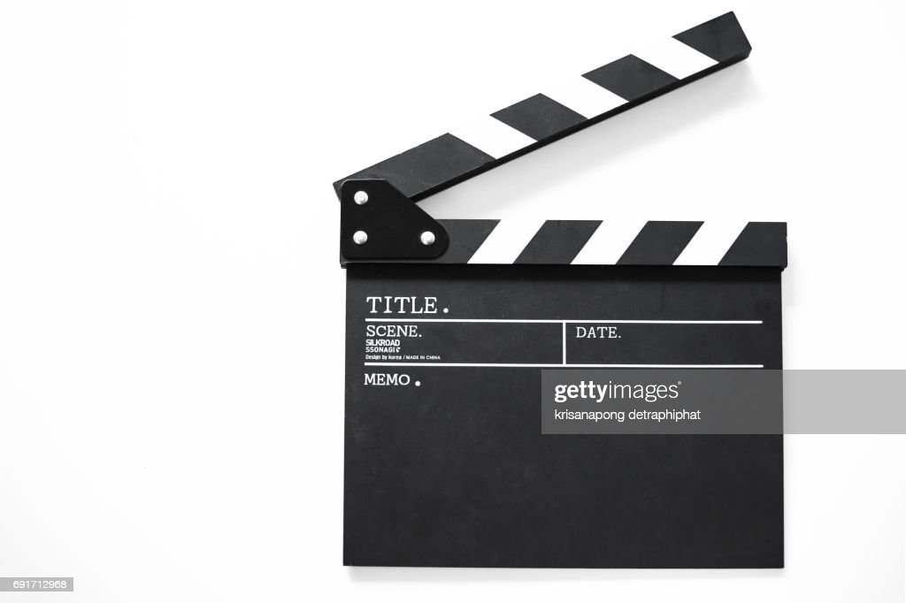 Movie clapper board,Movie Production, : Stock Photo