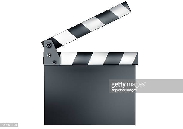 movie clapper, clapperboard or slate - clapboard stock pictures, royalty-free photos & images
