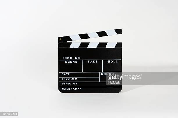 A movie clapperboard