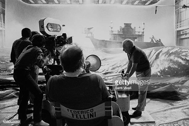 Movie Director Federico Fellini on the set of Casanova on July 10 1975 in Rome Italy