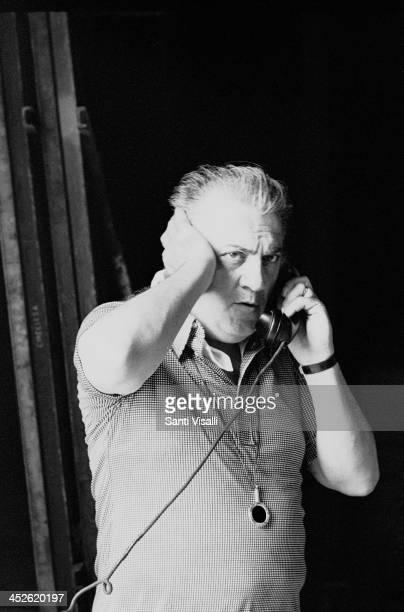 Movie Director Federico Fellini on the set of Casanova on July 11 1975 in Rome Italy