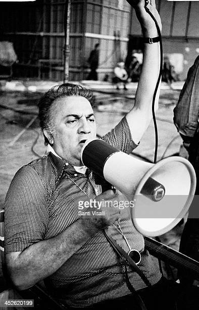Movie Director Federico Fellini on the set of Casanova on July 11 1975 in Rome Italy