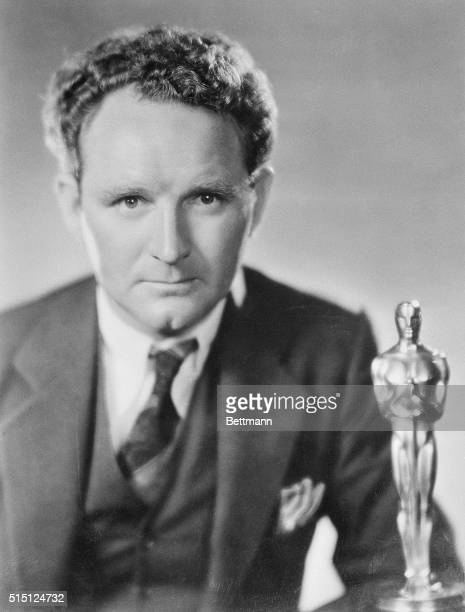Movie director Frank Borzage is pictured with his Academy Award which he won at the first annual Academy Awards Ceremony for his film Seventh Heaven